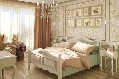 спальни в стиле прованс в доме 2