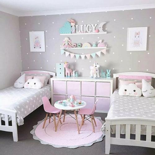декор в комнате для двух детей