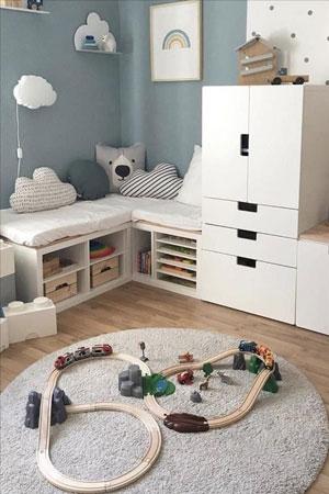 красивый декор в детской комнате для малыша