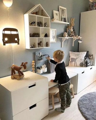 красивый декор в детской комнате для мальчика