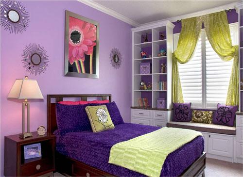 детская комната в фиолетовом цвете