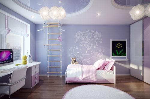 детская комната в фиолетовом цвете 2