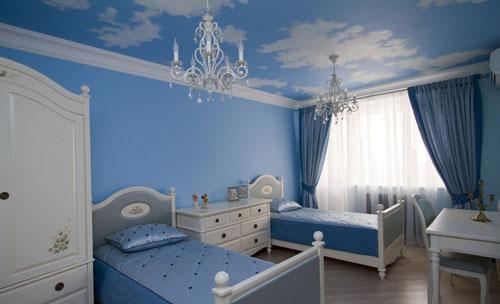 детская комната в голубом цвете 2