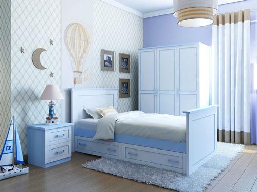 детская комната в голубом цвете 3