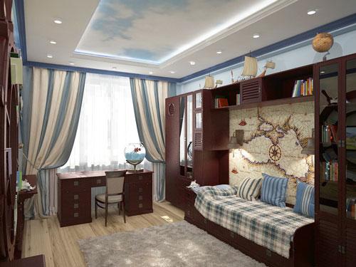детская комната в коричневом цвете