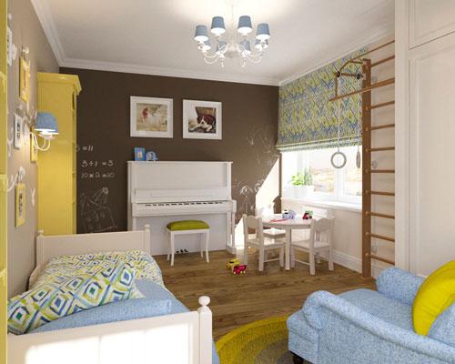 детская комната в коричневом цвете 2