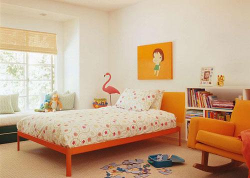 детская комната в оранжевых цветах 4