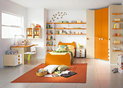 детская комната в оранжевых цветах 2