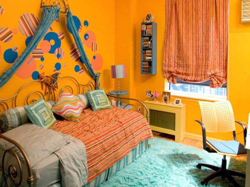 детская комната в оранжевых цветах 3