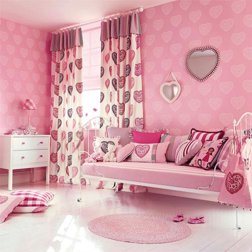 детская комната в розововых цветах 3