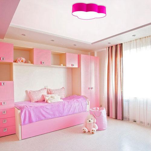 детская комната в розововых цветах