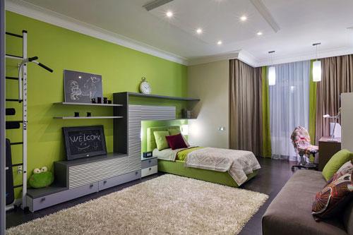 детская комната в зеленом цвете 2