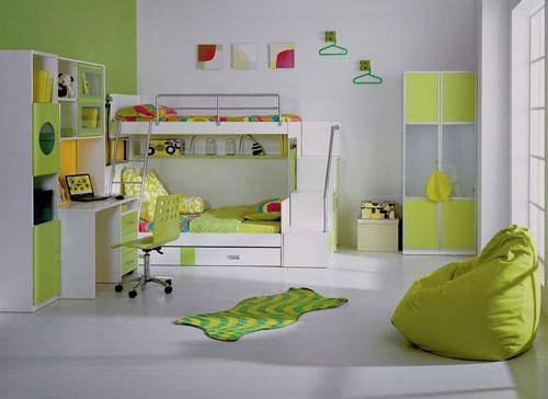детская комната в зеленом цвете 3