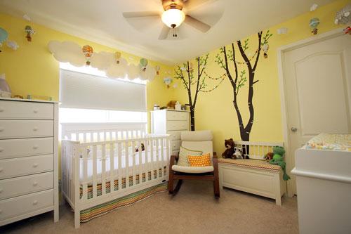 детская комната в желтых цветах 3