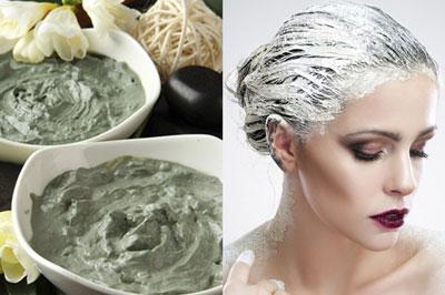 маска от ломкости волос с белой глиной