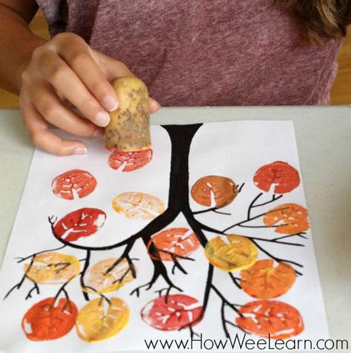поделки деревья для малышей