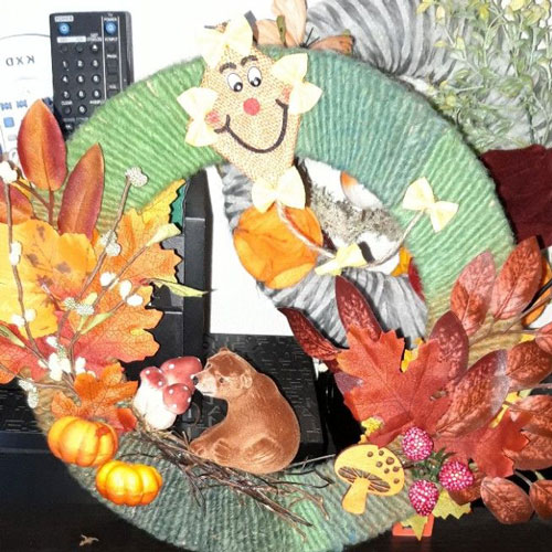 Поделки на тему осень: венки
