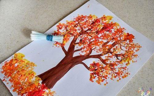 поделки осенние деревья для малышей