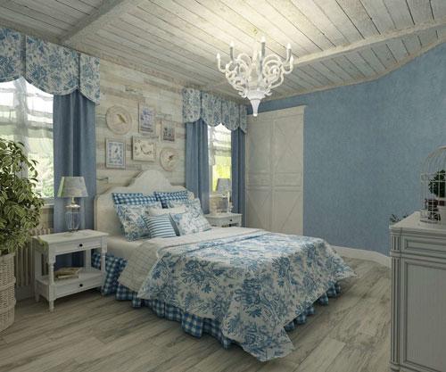 современная спальня в стиле прованс 2