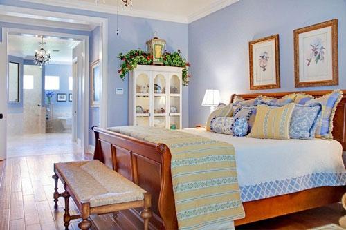современная спальня в стиле прованс 3