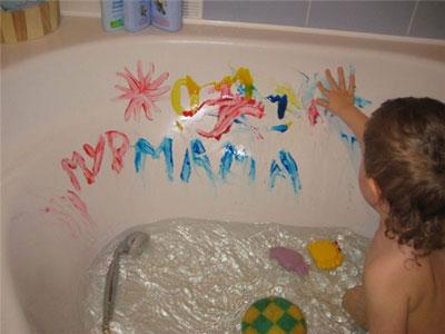 Игры в ванной для детей 4 лет