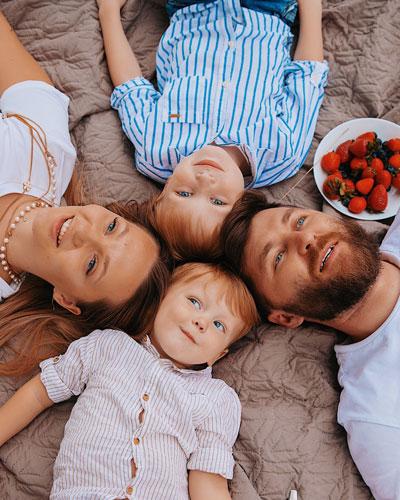 Кристина Курепина и дети