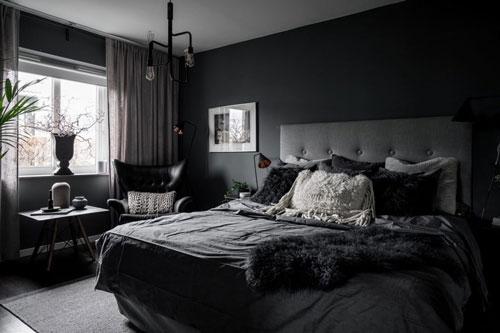 стены в спальне в скандинавском стиле 9