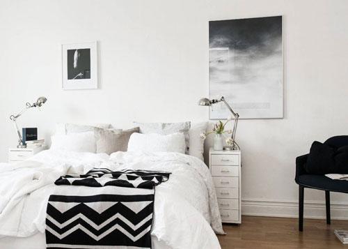 фото интерьера спальни в скандинавском стиле 3