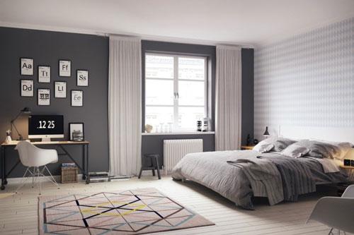 стены в спальне в скандинавском стиле 2