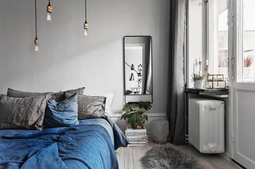 стены в спальне в скандинавском стиле 1