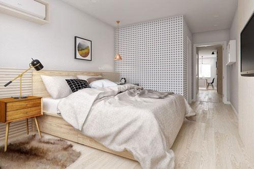 фото интерьера спальни в скандинавском стиле шкаф 2