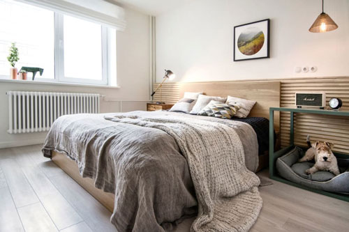 интерьер спальни в скандинавском стиле 7