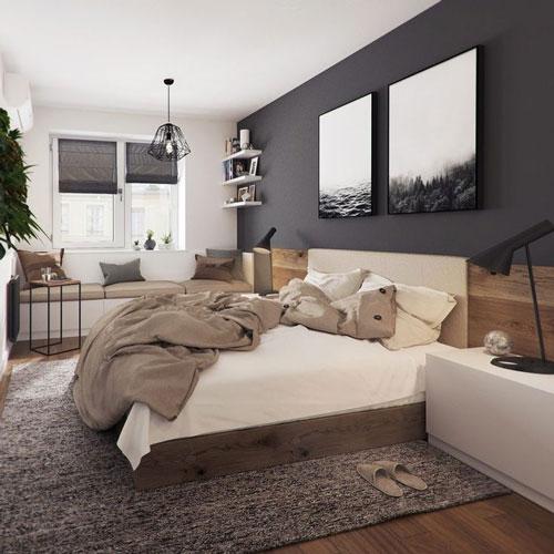 стены в спальне в скандинавском стиле 6