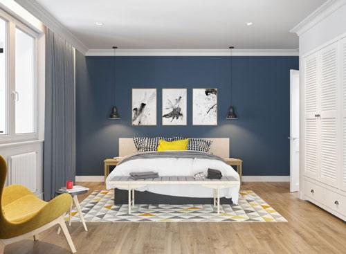 стены в спальне в скандинавском стиле 5