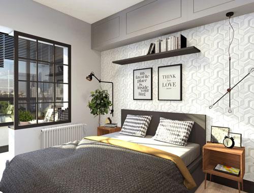 стены в спальне в скандинавском стиле 4