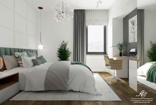 стены в спальне в скандинавском стиле 3