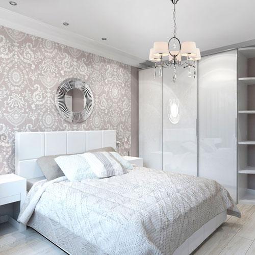 интерьер спальни в современном стиле в светлых тонах 9