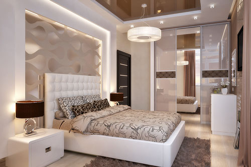 интерьеры маленьких спален в современном стиле 6