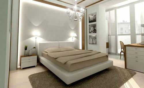 интерьер спальни в современном стиле в светлых тонах 5