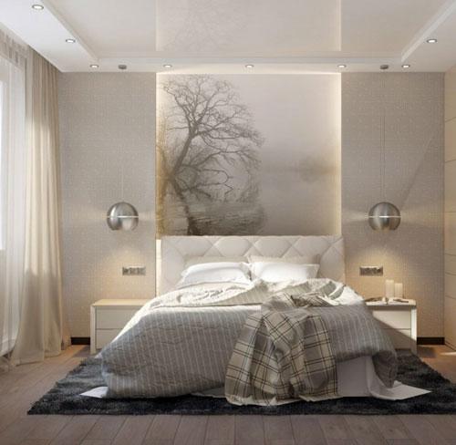 интерьер спальни в современном стиле в светлых тонах 4