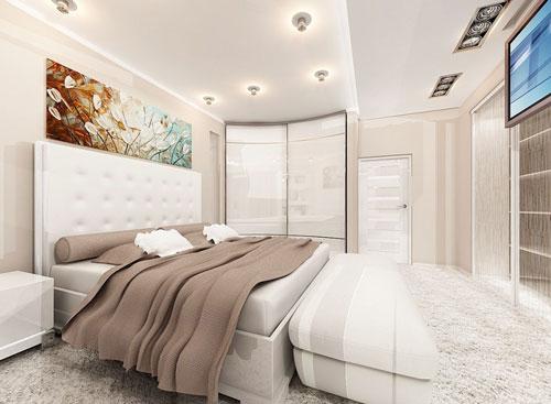 интерьеры маленьких спален в современном стиле 5
