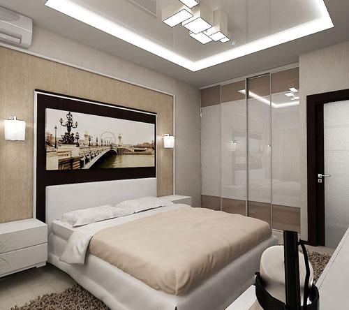 интерьеры маленьких спален в современном стиле 10