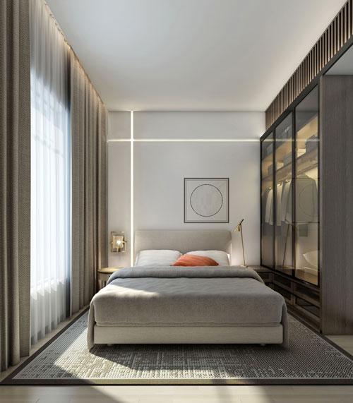 интерьеры маленьких спален в современном стиле