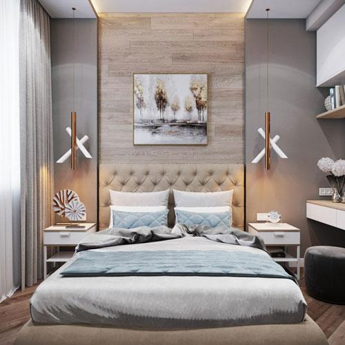 интерьеры маленьких спален в современном стиле 3