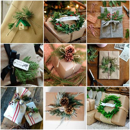 красиво упаковать подарки на Новый год 4