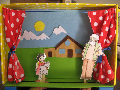 маленький кукольный театр из коробки