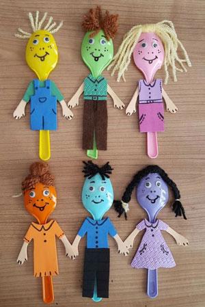 Как организовать дома кукольный театр: человечки из ложек