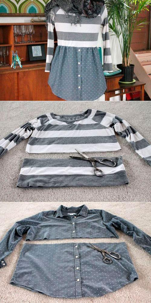 Как сделать из старой одежды новую 7