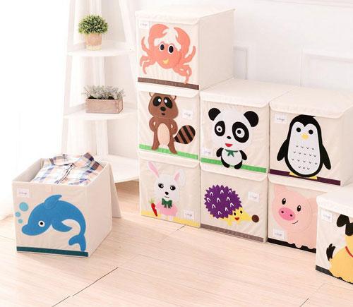 декор детской комнаты хранение игрушек
