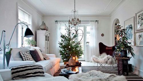 украсить квартиру к Новому году скандинавский стиль